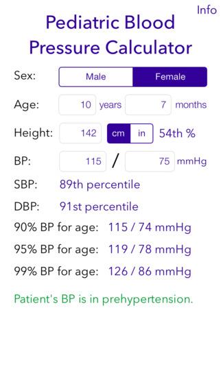 Screenshot for Pediatric BP Calculator in Australia App Store