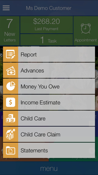 how to use the centrelink app