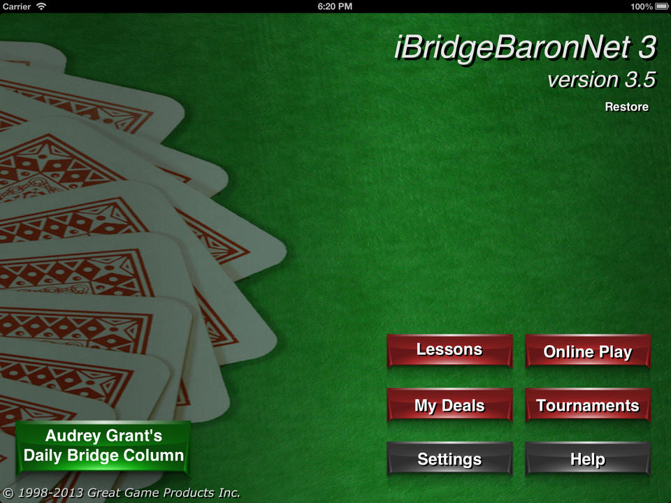 Bridge Baron Net - iPhone Mobile Analytics and App Store Data