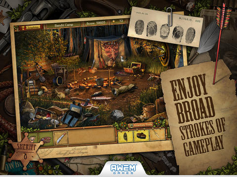 Screenshot 1 Golden Trails: Hidden Object Adventure Western (Premium)