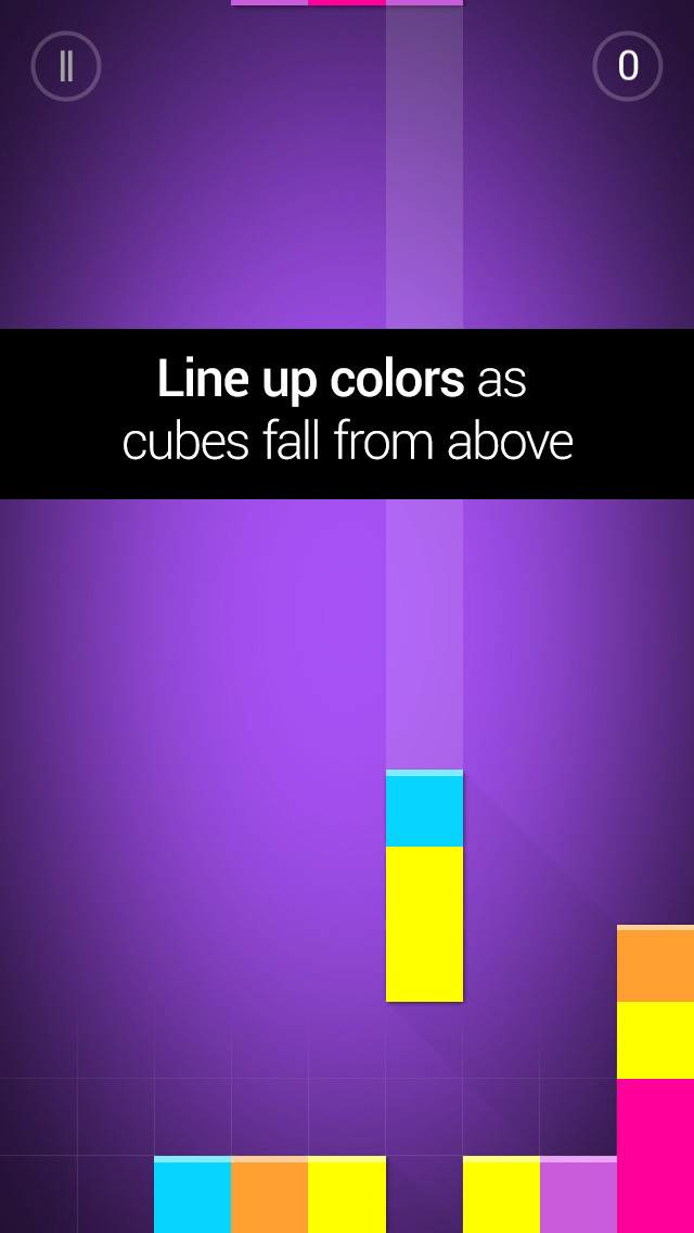Qubies: Match-3 meets falling blocks iOS Screenshots