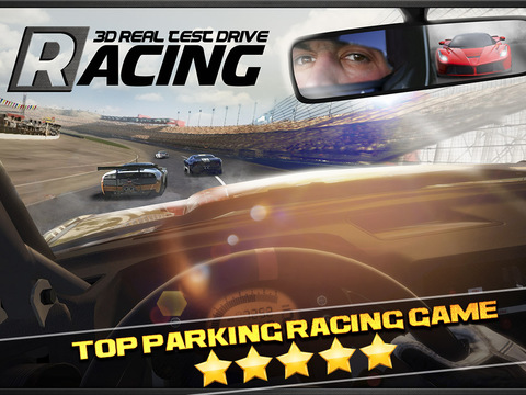 3D Real Test Drive Racing Parking Game - Auto Race Spelletjes Gratis iPad app afbeelding 1