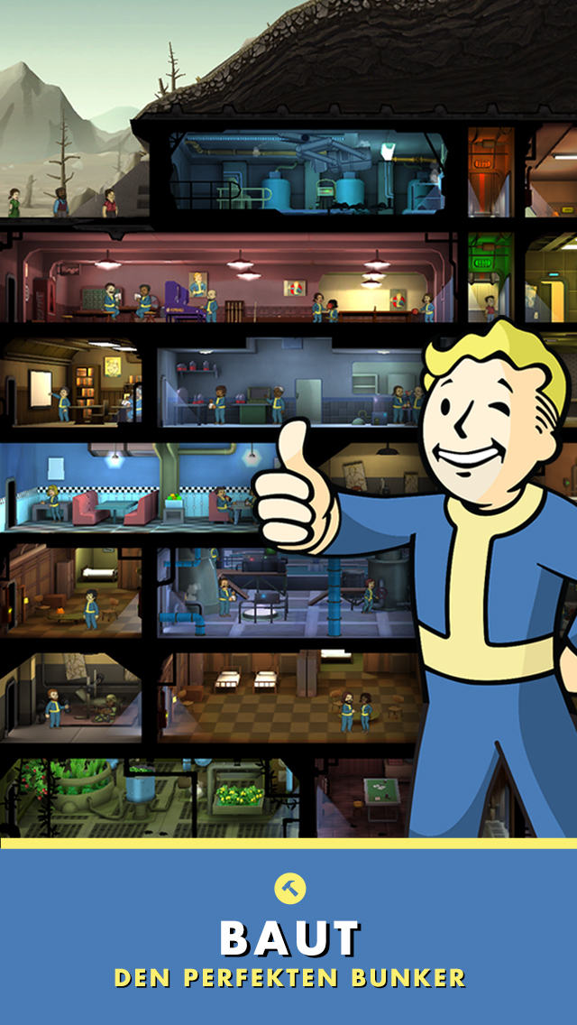 Fallout Shelter iOS Screenshots