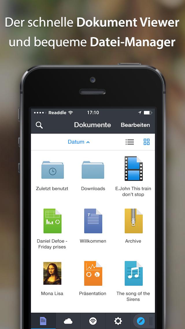 Documents by Readdle lernt deutsch