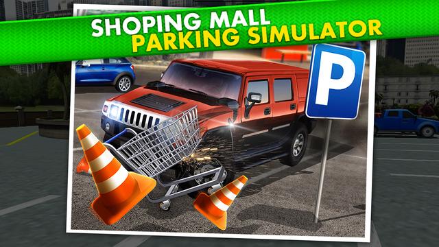 shopping mall parking driving simulator gratuit jeux de voiture de course dans l app store. Black Bedroom Furniture Sets. Home Design Ideas