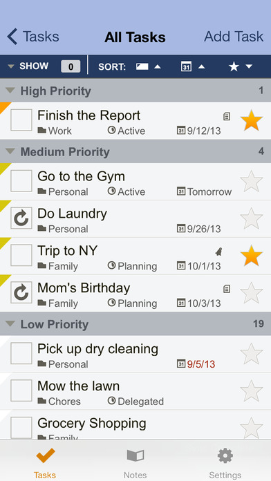 Toodledo: Todo Lists - Notes - Outlines - Habits Screenshot