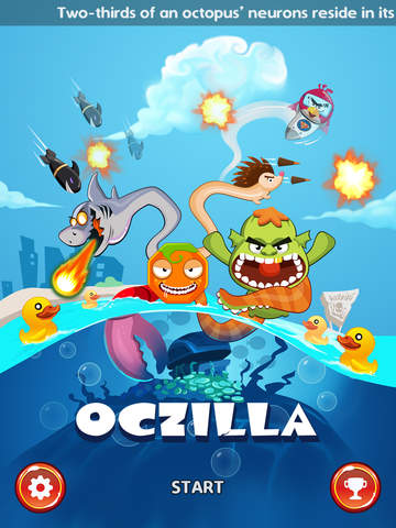 Oczilla - The Mutant Octopus In Crossy Tower Defense iOS Screenshots