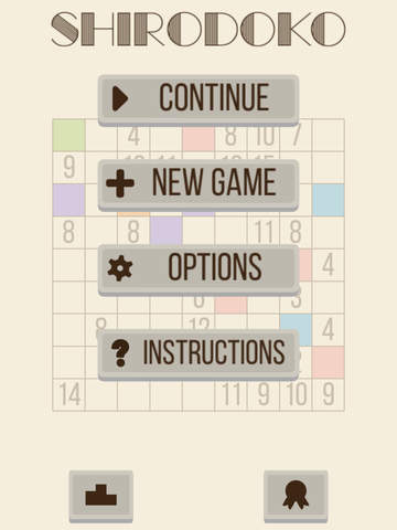 Shirodoko - A contender for the next Sudoku! iOS Screenshots