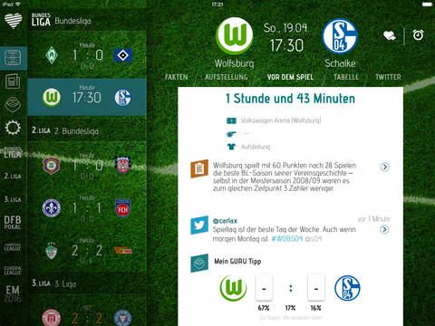 Fussball Live-Ticker Herzrasen Screenshot