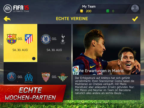 FIFA 15 Ultimate Team iOS