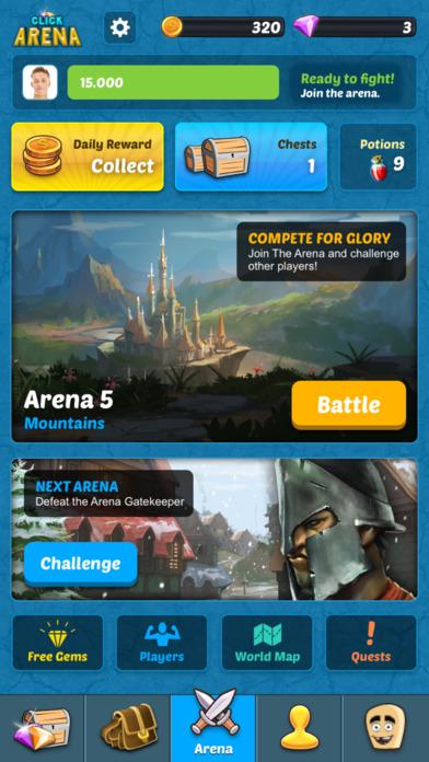 Click Arena - Social Fight Online Screenshot