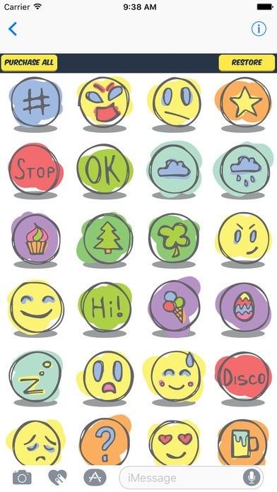 fun sticker pack fun emojis for everyday use por ilya moskovoy. Black Bedroom Furniture Sets. Home Design Ideas