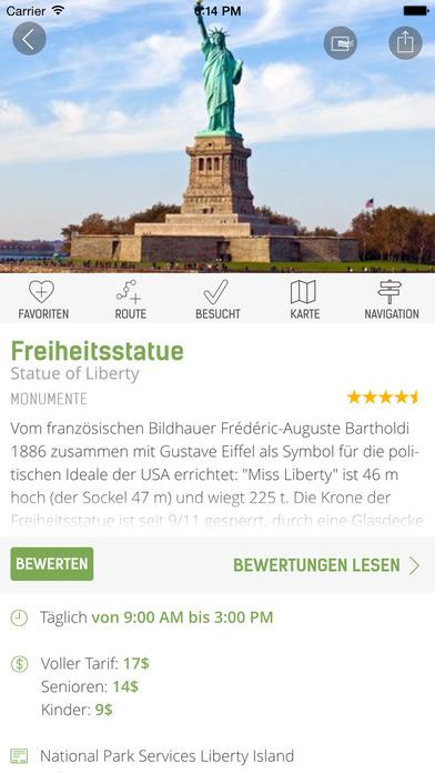 New York Reiseführer (Offline Stadtplan) - mTrip Screenshot