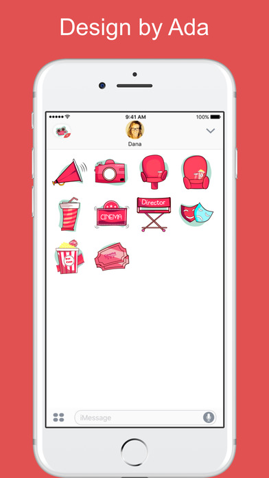 download Movie and Cinema Culture stickers for iMessage apps 1