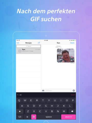 PopKey + GIF-Tastatur Screenshot