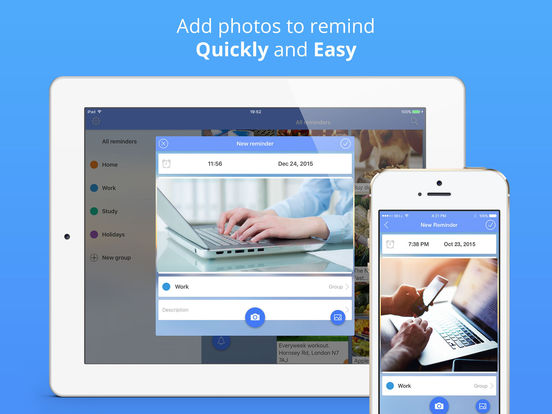 Photo Reminders Screenshot