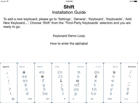 Shift - Keyboard Extension Screenshots