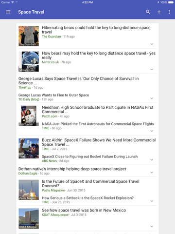 Google Nieuws en weer iPad app afbeelding 4