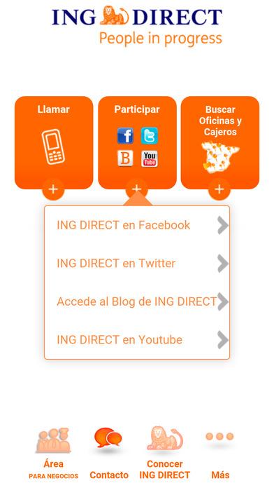 Ing direct negocios en el app store for Localizador oficinas santander