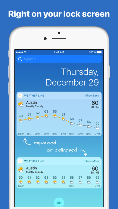 Screenshot Weather Line - Forecast Graphs + Dark Sky Weather