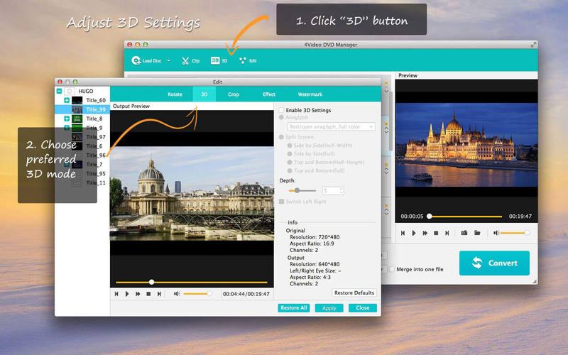 4Video DVD Manager - Best DVD Ripper Screenshots