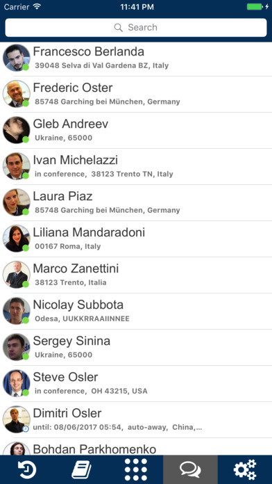 Wildix Collaboration Mobile Screenshot