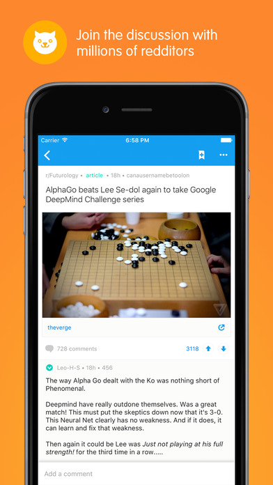 Reddit Official App: Trending News and Hot Topics Screenshot