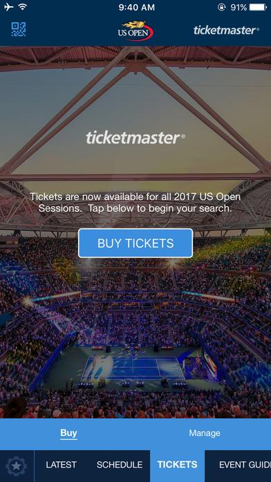 2017 US Open Tennis Championships Screenshot