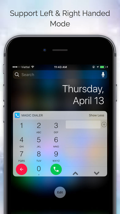 Magic Dialer Pro with Notification Center Widget Screenshots