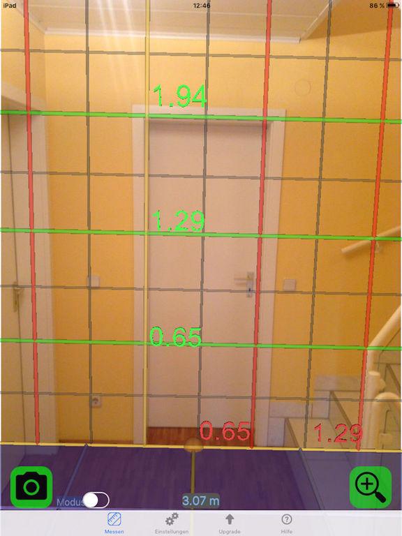 3D Video Ruler - Live tape measure HUD grid camera Screenshot