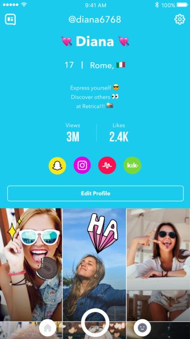 download Retrica - Caméra Selfie avec Filtre, Sticker & GIF apps 2