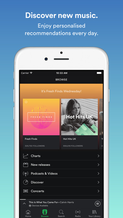 download Spotify Music appstore review