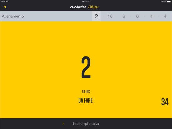 Runtastic Sit Ups Addominali Esercizi + Allenatore Screenshot
