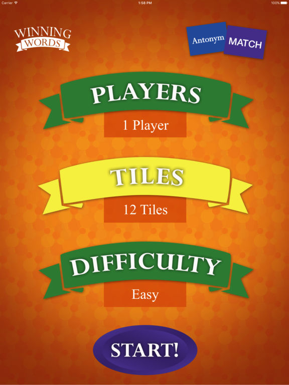 Antonym Match Screenshots