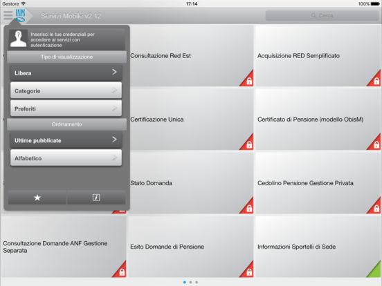 Inps servizi mobile per ipad sull 39 app store for Fascicolo previdenziale del cittadino