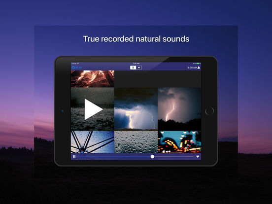 Sleep Sounds - Natur, weiße Geräusche klingt Screenshot
