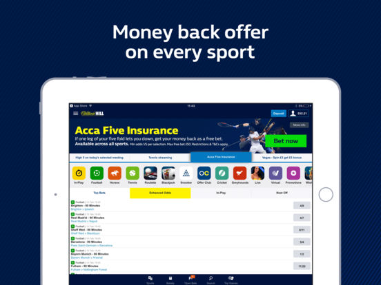 odds for football horse betting app