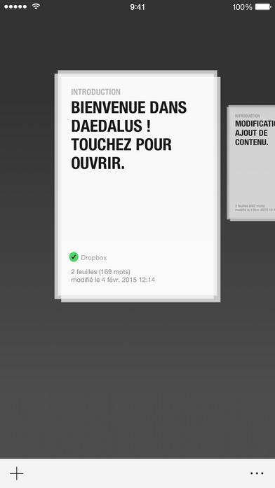 Screenshot Daedalus Touch – Éditeur de texte pour iCloud
