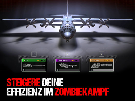 Screenshot 1 Zombie Gunship Survival