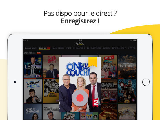 Molotov : TV en direct, replay TV, et plus iPad
