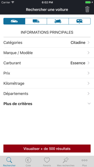 la centrale voiture d occasion et argus on the app store. Black Bedroom Furniture Sets. Home Design Ideas