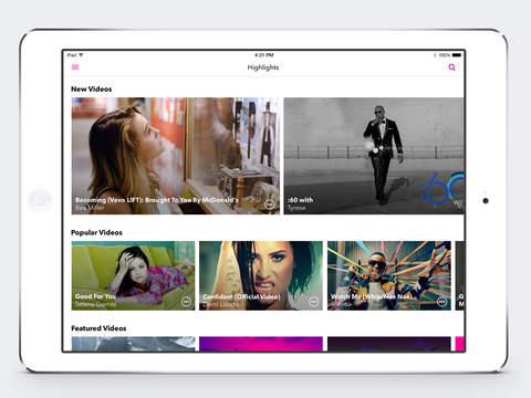Vevo - Schau kostenlos Musikvideos Screenshot