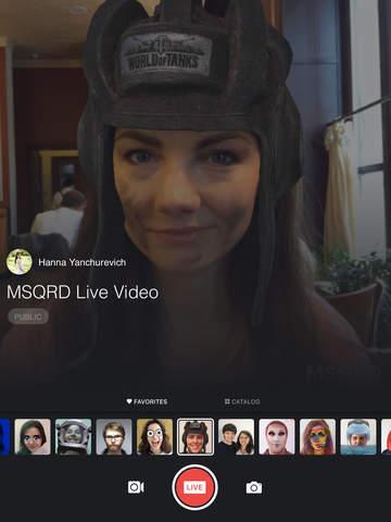 MSQRD — Live-Filter & Gesichtstausch für Video-Selfies Screenshot