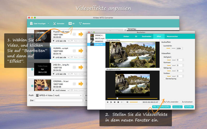 4Video MTS Converter - To MP4/MOV/AVI Screenshot