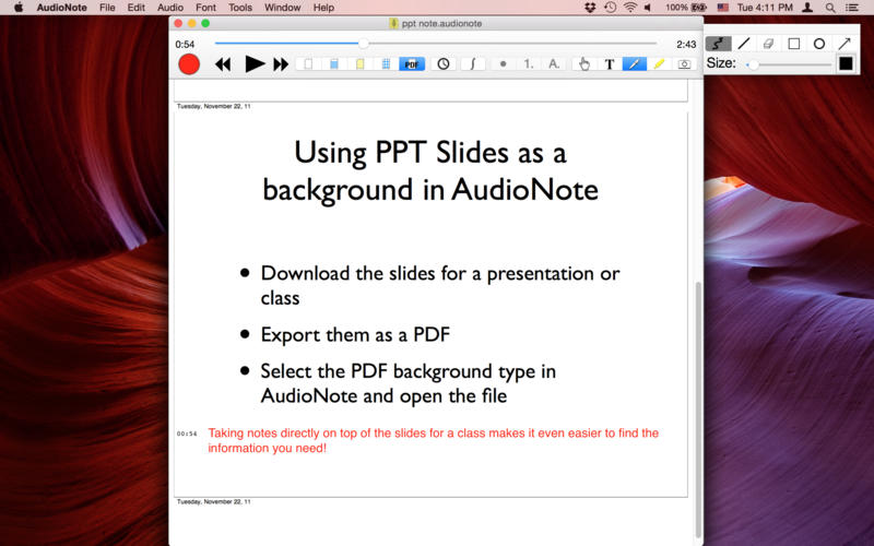 AudioNote - Notepad and Voice Recorder Screenshot