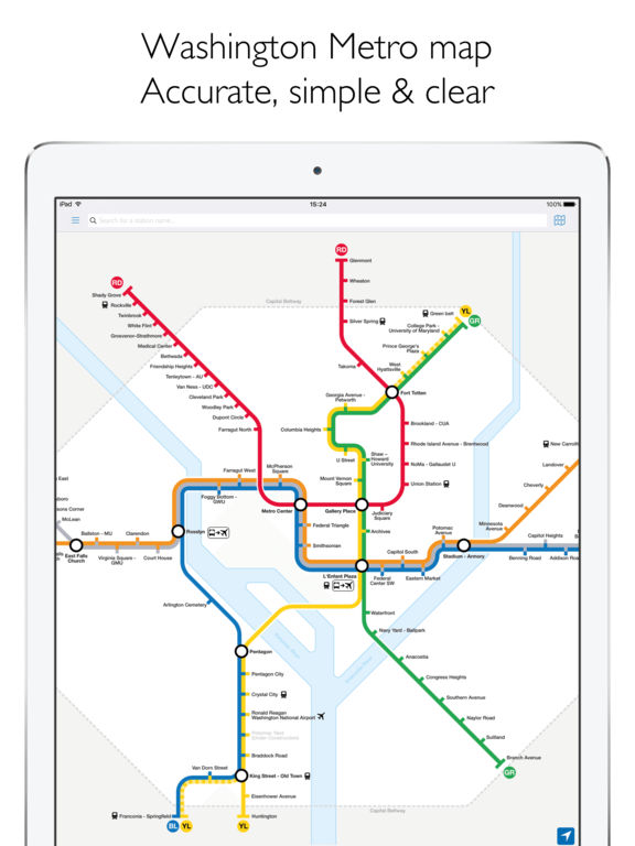 washington dc metro map and route planner on the app store