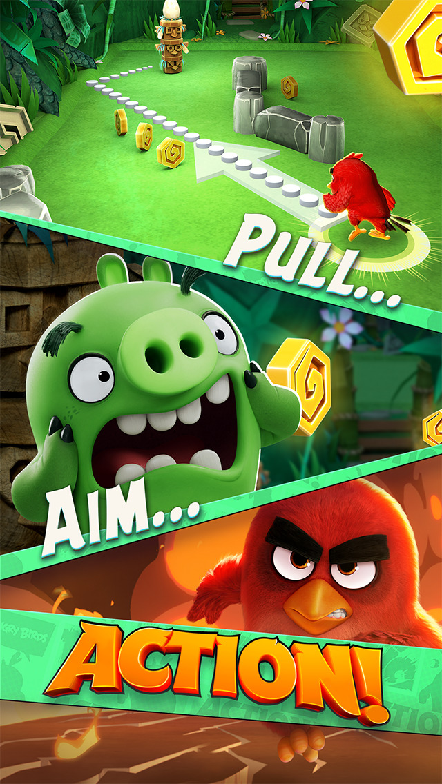 Angry Birds Action! iOS Screenshots