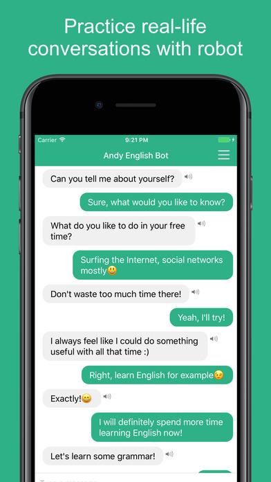 Andy - English Speaking Bot Screenshot