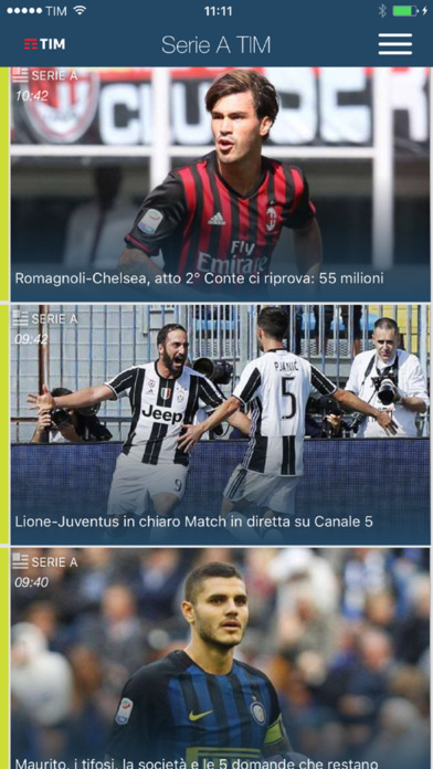 App serie A team calcio streaming