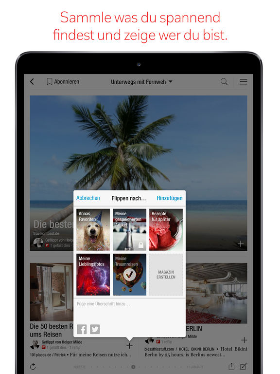 Flipboard: Dein Social News Magazin Screenshot